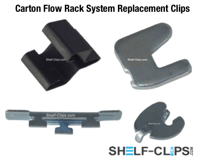 Carton Flow Rack System Replacement Clips